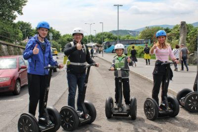 Family on Segway